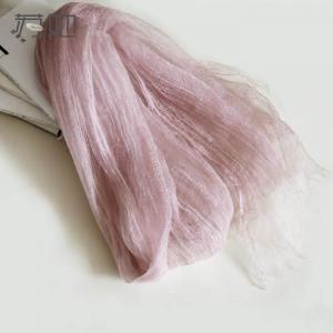 真丝100%桑蚕丝丝巾春夏纯色亚麻围巾女披肩两用长款扎染_www.nvshen9.com