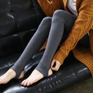 秋冬纯棉加绒踩脚打底裤女大码弹力小脚裤高腰显瘦加厚外穿九分裤_加厚打底裤_www.nvshen9.com
